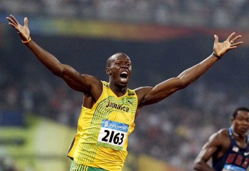 100m world record holder, Usain Bolt (Picture 1)