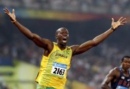 100m world record holder, Usain Bolt